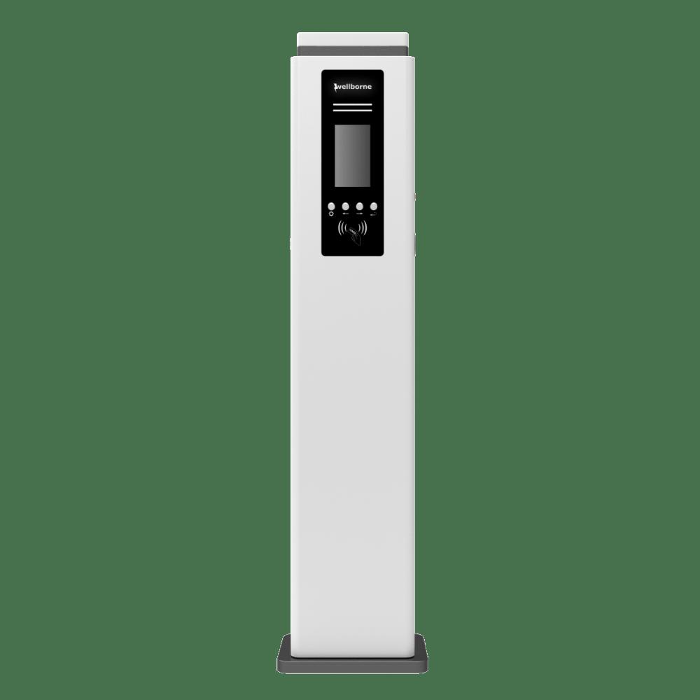 Station de recharge voiture électrique - alimentation AC double -10 – 1-min